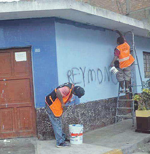 Adiós grafitis y pintas en Carmen de la Legua