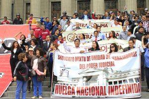 Trabajadores del PJ impiden ingreso a sedes judiciales