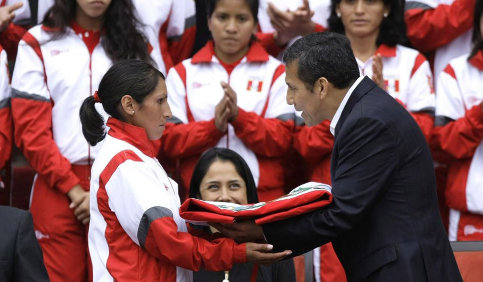 Presidente Humala saluda triunfo de Gladys Tejeda