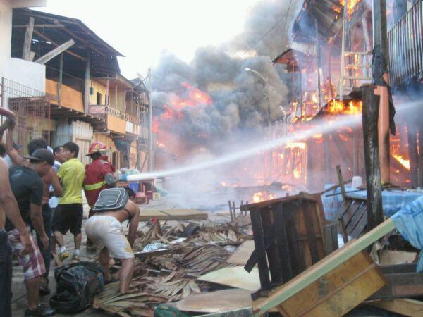 Iquitos: 150 casas se incendiaron en Belén
