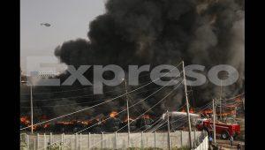 Barrios Altos: Incendio en la cuadra 2 del jirón Huánuco