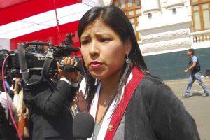 """Indira Huilca: """"Fuerza Popular está boicoteando la posibilidad de hacer una sanción legal"""""""