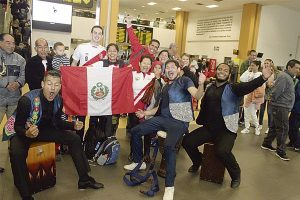 Celebran Fiestas Patrias en aeropuerto Jorge Chávez [VÍDEO]
