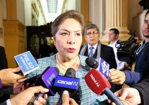 Luz Salgado insta al MP dar a conocer la transcripción del interrogatorio de Barata