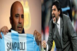 Maradona califica de falso a Sampaoli