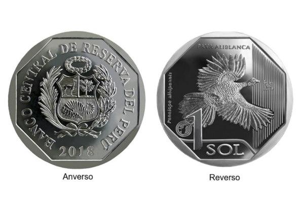 BCR presenta nueva moneda de S/ 1 alusiva a la Pava Aliblanca