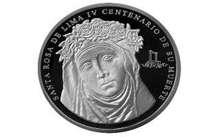 BCRP puso en circulación la moneda de plata de Santa Rosa de Lima