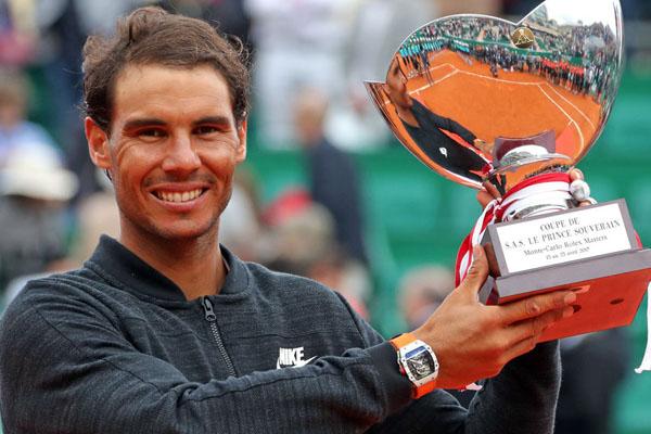 Nadal vence al japonés Nishikori y se consagra campeón en Montecarlo