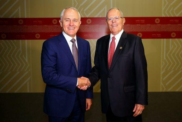 Perú firma compromiso de TLC con Australia