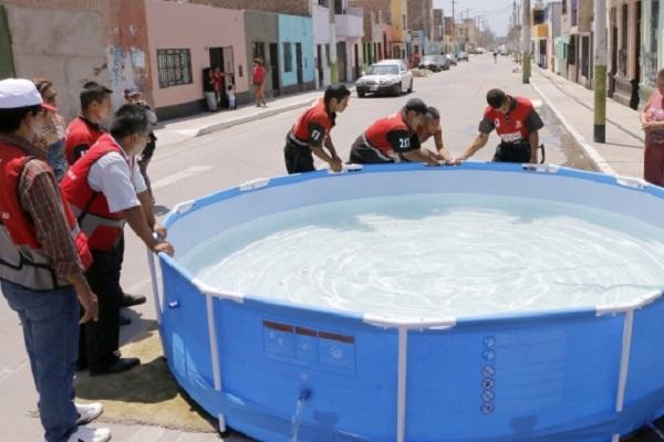 Prohíben instalación de piscinas  portátiles en calles del Callao