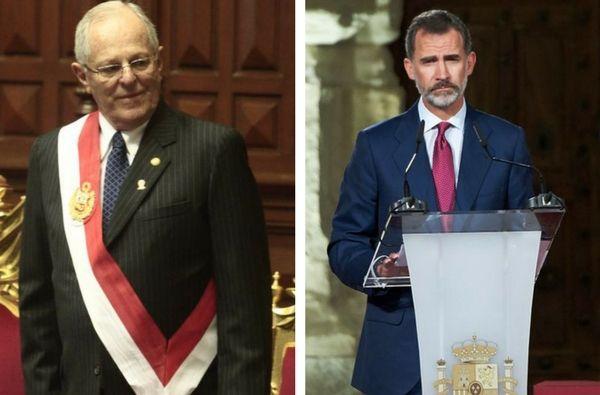PPK apoyó moralmente al rey Felipe VI por los incidentes en Cataluña