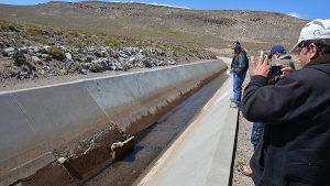 Presa de Saguanani presenta grietas tras sismo en Puno
