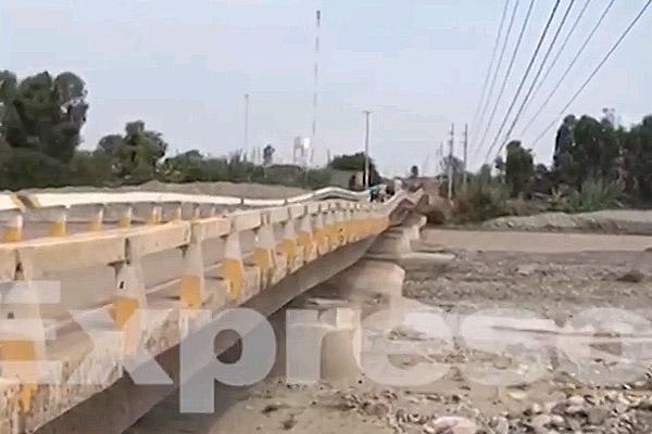 Chincha: Puente Chamorro sigue destruido frente a nueva crecida de río [VÍDEO]