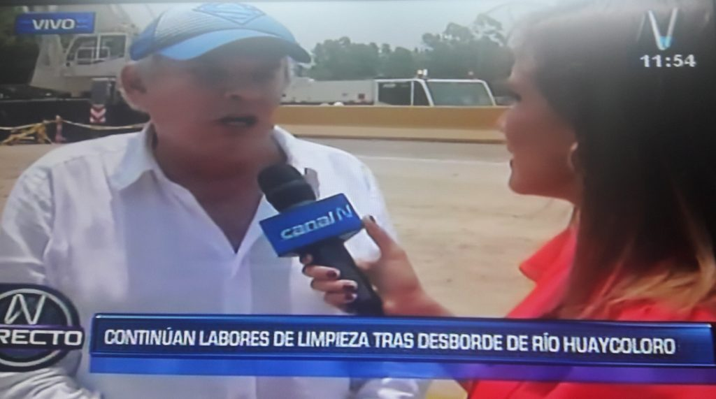 Luis Castañeda supervisa obras de 'Puente Bailey' en Huaycoloro [VIDEO]