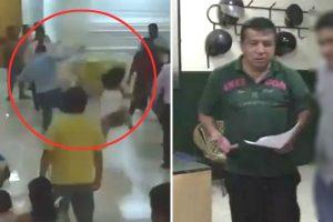 Sullana: Hombre lanza patada a mujer durante fiesta del Colegio de Abogados [VIDEO]