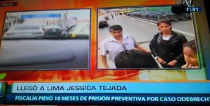 Odebrecht: Jessica Tejada regresó a Perú [VIDEO]