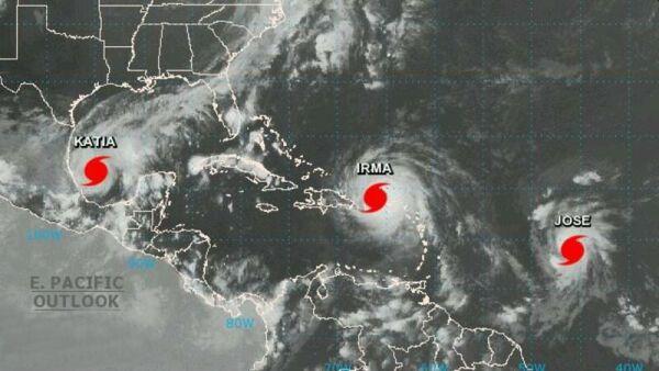 Katia, Irma y José, tres huracanes en el Atlántico