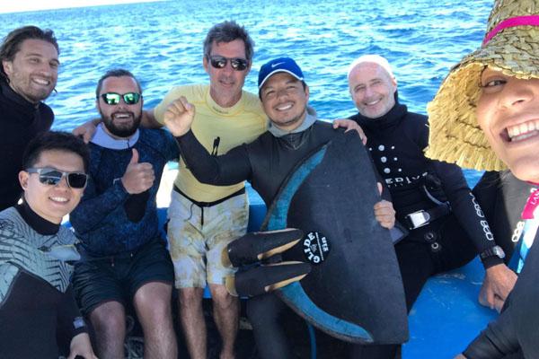 Juan Valdivia vuelve a batir el récord nacional de Apnea