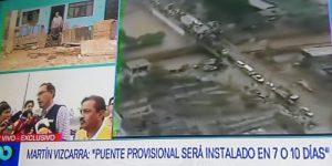 MTC: Martín Vizcarra llega a zona afectada por río Huaycoloro [VIDEO]