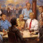 "EE.UU.: Donald Trump causa polémica con la pintura ""The Republican Club"""
