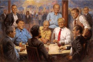 "EE.UU.: Donald Trump causa polémica con la pintura ""The Republican Club"""