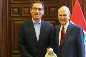 Martín Vizcarra se reunió con el presidente de la Iglesia de los Santos de los Últimos Días