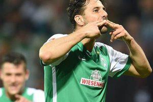En Alemania, Pizarro anota su primer gol en su vuelta al Werder Bremen