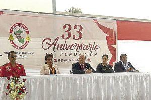 Autoridades de Mi Perú celebran 33 años de fundación