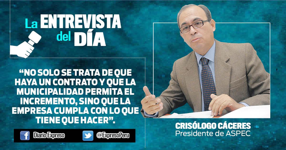 """Crisólogo Cáceres: """"CGR debe investigar indicios de corrupción en Línea Amarilla"""""""