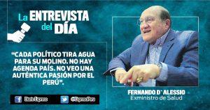 """Fernando d`Alessio: """"La equivalencia de pensiones es constitucional"""""""