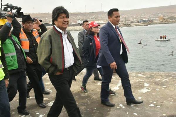 Evo Morales en Ilo