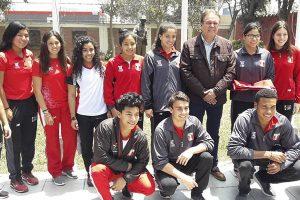 Delegación peruana rumbo a los Juegos Olímpicos de la Juventud
