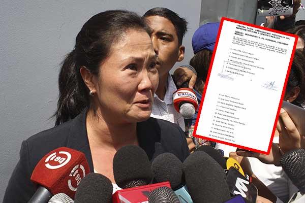 Keiko Fujimori y las otras 19 personas con detención preliminar [FOTO]