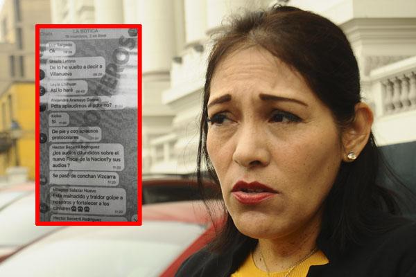 Milagros Salazar insulta a Martín Vizcarra en conversaciones de 'La Botica' [FOTOS]