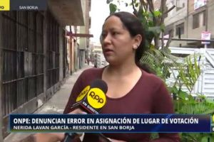 Elecciones 2018: Mujer denuncia error en asignación de mesa de votación