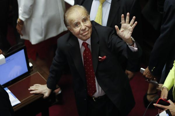Absuelven a expresidente argentino Carlos Menem