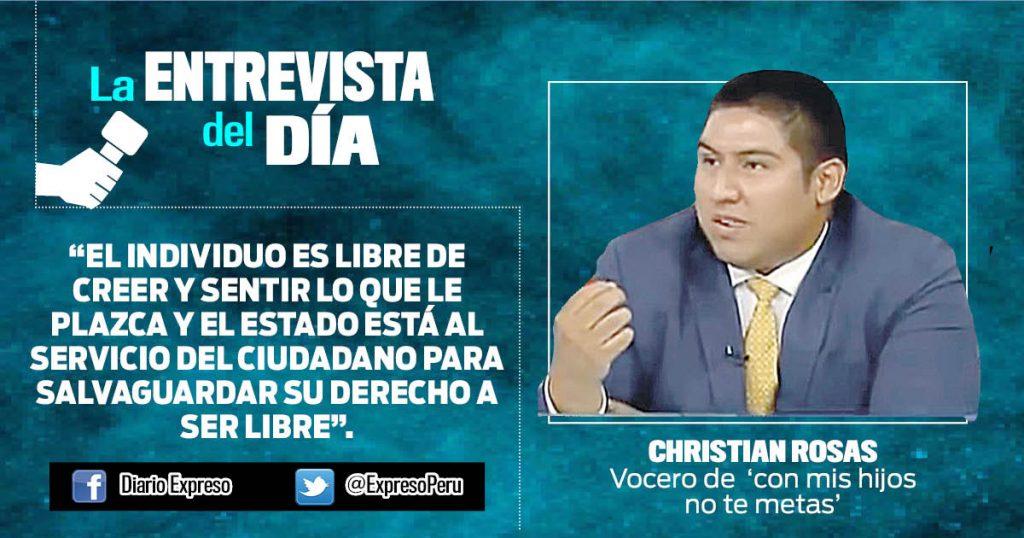 "Christian Rosas: ""La identidad es inmutable"""