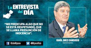 """Raúl Diez Canseco: """"Este gobierno necesita una nueva agenda política"""""""