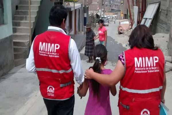 MIMP atendió a más de once mil niños en situación de riesgo o desprotección familiar