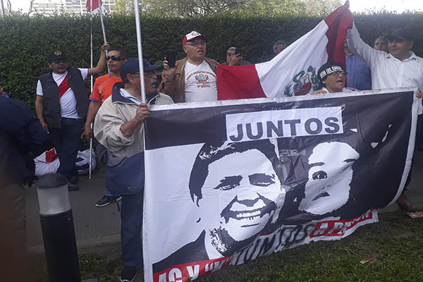 Alan García: Despliegue policial alrededor de la embajada de Uruguay [IMÁGENES]