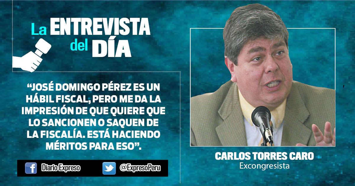 """Carlos Torres Caro: """"Libertad de García se encuentra en estado terminal"""""""