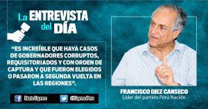 "Francisco Diez Canseco: ""Hubo mucha desinformación en referéndum"""