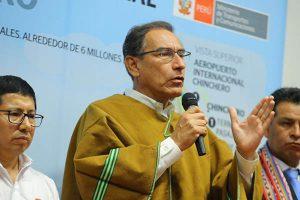 """Martín Vizcarra sobre Chinchero: """"Que se investigue lo que se tenga que investigar"""""""
