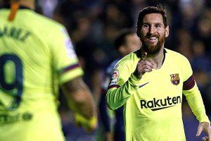 Messi firma el triplete en victoria de Barcelona
