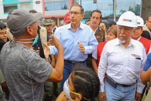 SJL: Martín Vizcarra llegó a supervisar zona afectada