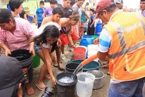 Cisternas repartirán agua desde este viernes a los distritos que sufrirán el corte