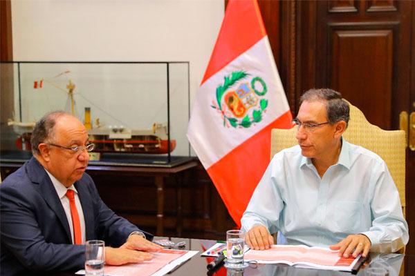 Martín Vizcarra se reunió con la Comisión de Reforma Política