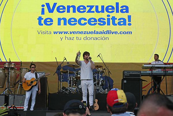 Juan Guaidó asiste a concierto Venezuela Aid Live