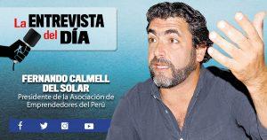 """Fernando Calmell del Solar: """"Iniciativa de pago a 30 días dinamiza el mercado laboral"""""""