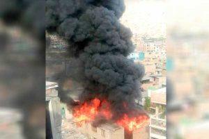 Rímac: Incendio de código 3 en almacén de calzado [VÍDEO]